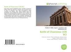 Bookcover of Battle of Chaeronea (338 BC)