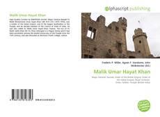 Malik Umar Hayat Khan kitap kapağı