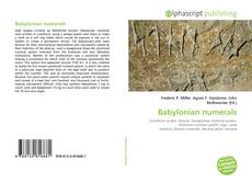 Bookcover of Babylonian numerals