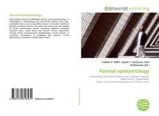 Bookcover of Formal epistemology