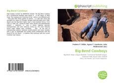 Bookcover of Big Bend Cowboys