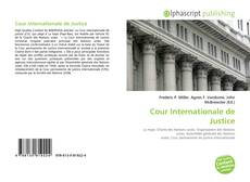 Capa do livro de Cour Internationale de Justice