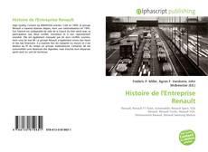 Bookcover of Histoire de l'Entreprise Renault