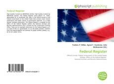 Buchcover von Federal Register