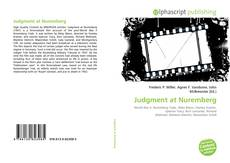 Bookcover of Judgment at Nuremberg