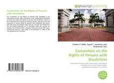 Bookcover of Convention on the Rights of Persons with Disabilities