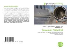 Capa do livro de Korean Air Flight 858