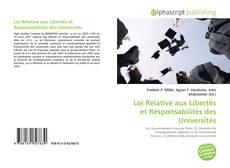 Bookcover of Loi Relative aux Libertés et Responsabilités des Universités
