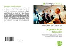 Copertina di Argument from Ignorance