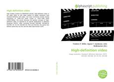Bookcover of High-definition video