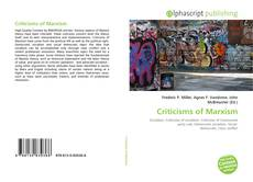 Copertina di Criticisms of Marxism