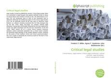 Buchcover von Critical legal studies