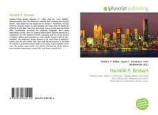 Bookcover of Harold P. Brown
