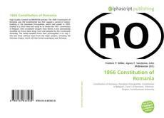 1866 Constitution of Romania的封面