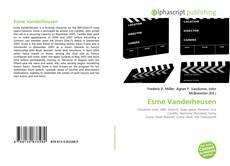 Portada del libro de Esme Vanderheusen