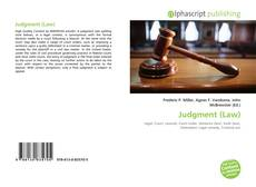 Portada del libro de Judgment (Law)