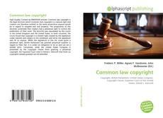 Borítókép a  Common law copyright - hoz