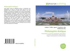 Bookcover of Philosophie Antique
