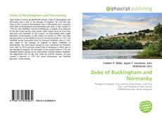 Duke of Buckingham and Normanby kitap kapağı