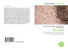Borítókép a  Ant colony - hoz