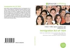 Immigration Act of 1924 kitap kapağı
