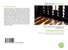 Buchcover von Interpersonal ties