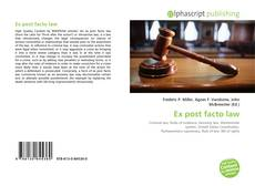 Bookcover of Ex post facto law