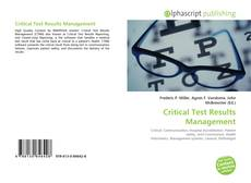 Bookcover of Critical Test Results Management