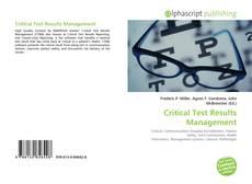 Couverture de Critical Test Results Management