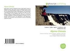 Capa do livro de Alpine Climate