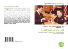 Bookcover of Legal burden of proof