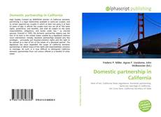 Couverture de Domestic partnership in California
