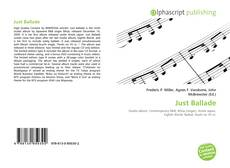 Buchcover von Just Ballade