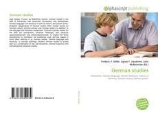 Bookcover of German studies