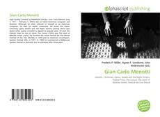 Portada del libro de Gian Carlo Menotti