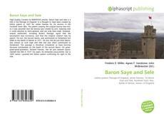 Bookcover of Baron Saye and Sele