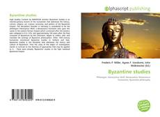 Bookcover of Byzantine studies