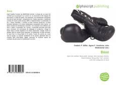 Bookcover of Boxe