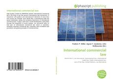 Bookcover of International commercial law