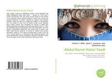 Bookcover of Abdul-Karim Ha'eri Yazdi
