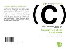 Borítókép a  Copyright law of the Soviet Union - hoz