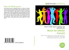 Обложка Music for UNICEF Concert