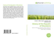Bookcover of History of the Republic of Macedonia