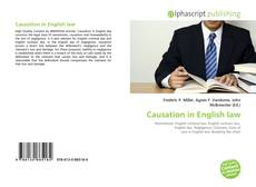 Bookcover of Causation in English law