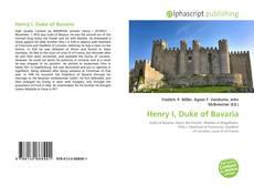 Обложка Henry I, Duke of Bavaria
