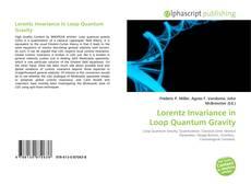 Portada del libro de Lorentz Invariance in Loop Quantum Gravity