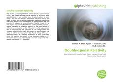 Bookcover of Doubly-special Relativity