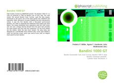 Bookcover of Bandini 1000 GT