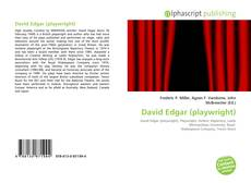 Bookcover of David Edgar (playwright)