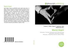 Portada del libro de Mario Kopić